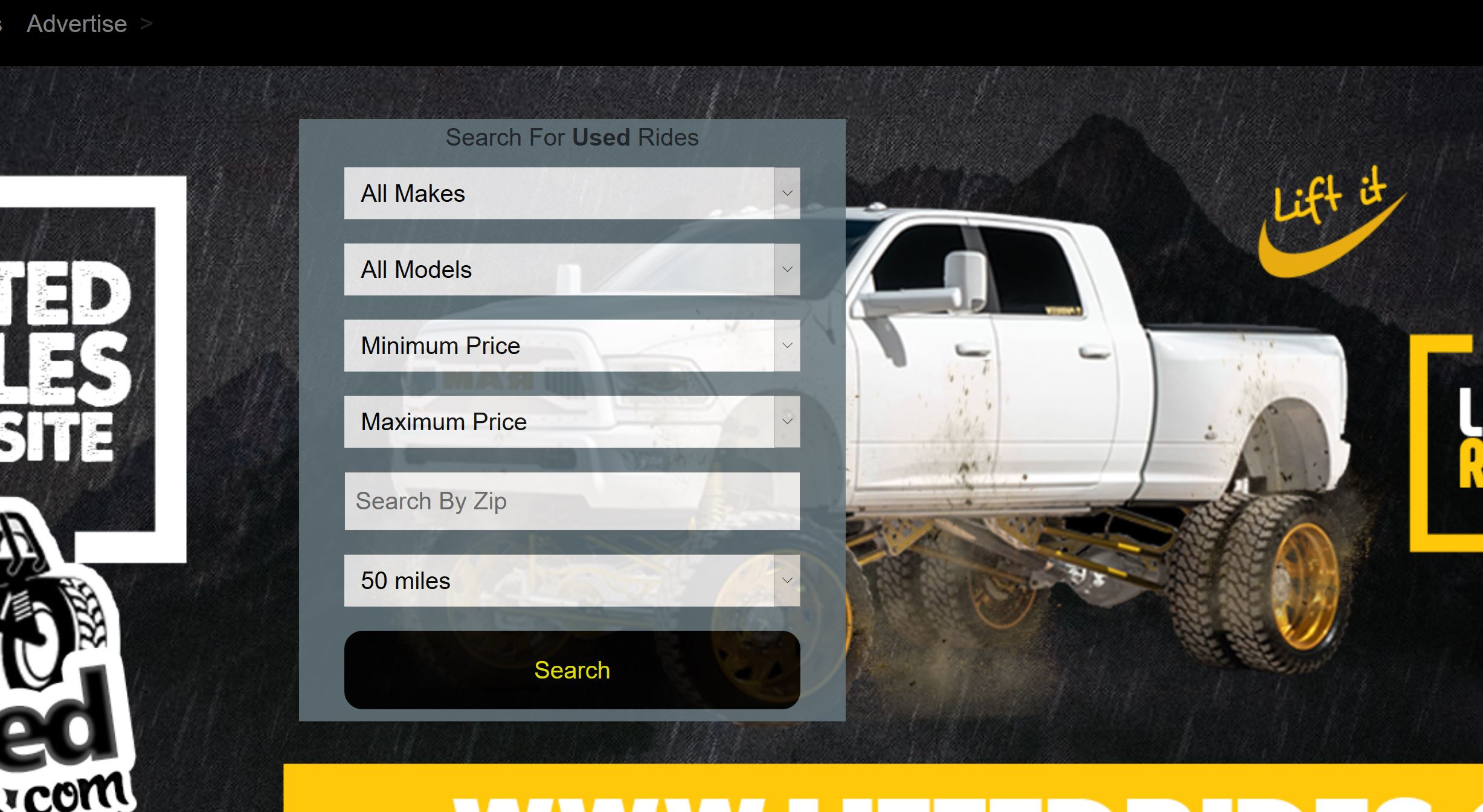 Website for marketing vehicles and dealers